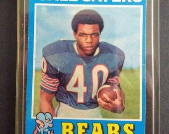 Gale Sayers 1971 Topps Card! Authentic Vintage 1971! Gale Sayers ~ 1971 Chicago Bears Topps Card Number 150! Gale Sayers Hall Of Famer! EXC