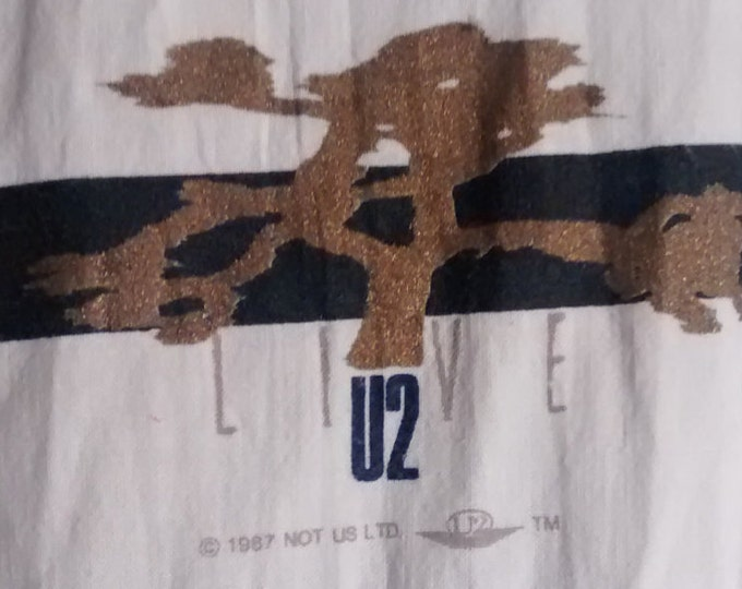 U2 Tour Shirt Joshua Tree Super Rare Original 1987! Authentic Vintage '87! U2 Joshua Tree 100% Cotton Button Like New! Never Worn! Size XXL