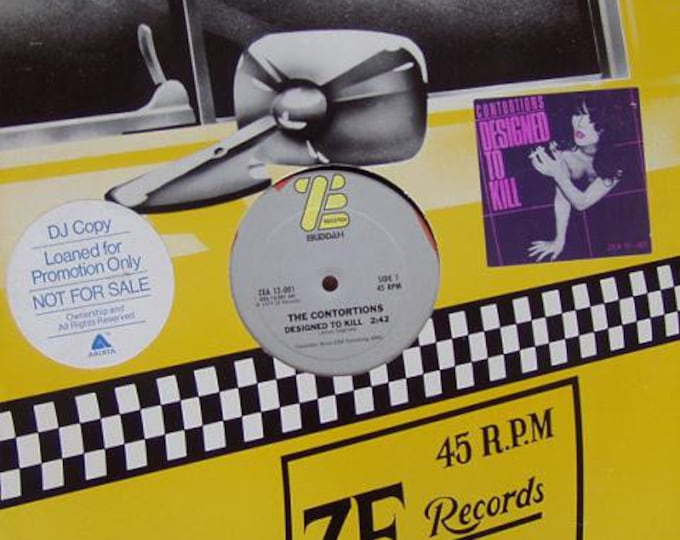 """The Contortions 12"""" Vinyl DJ Record! Authentic Vintage 1979! The Contortions Designed To Kill / Throw Me Away James Chance RARE! ZE Records!"""