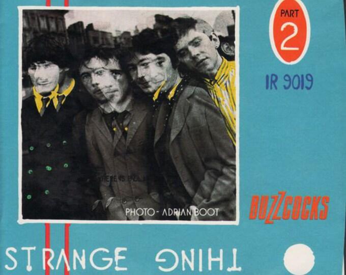 "Buzzcocks Vinyl 7"" Single! Authentic Vintage 1980! Buzzcocks ~ Strange Thing / Airwaves Dream I.R.S Records IR9019 US Release! Near Mint!"