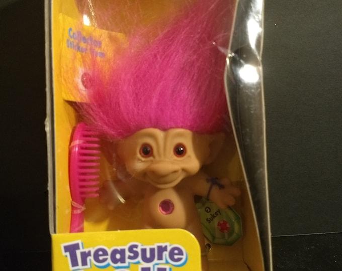 "Troll Doll 1st Edition Treasure Troll ""Sukey"" W/Wishstones! Authentic Vintage 1998! Treasure Troll Galoob Complete Unopened Box! Bent Box!"