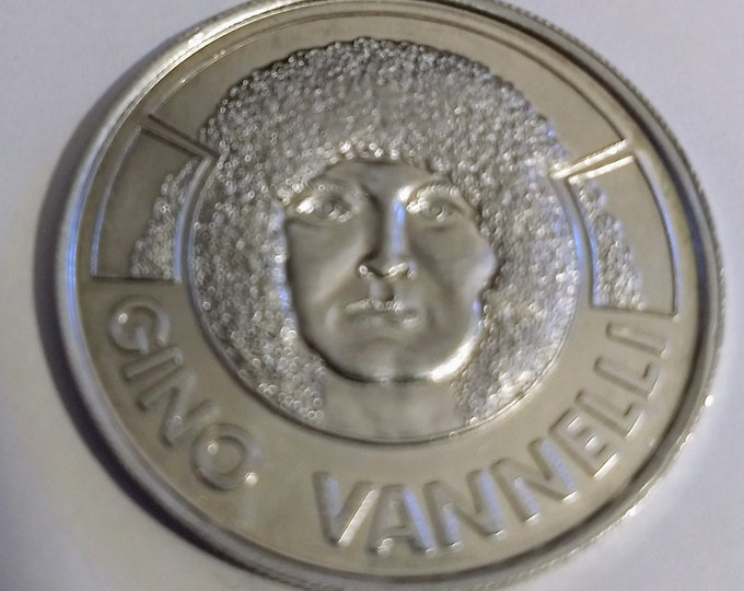 Gino Vannelli Coin Token A Song And Dance! Authentic Vintage 1977! Gino Vannelli Aluminum Coin A&M Records Promotional Coin! Silver Colour!