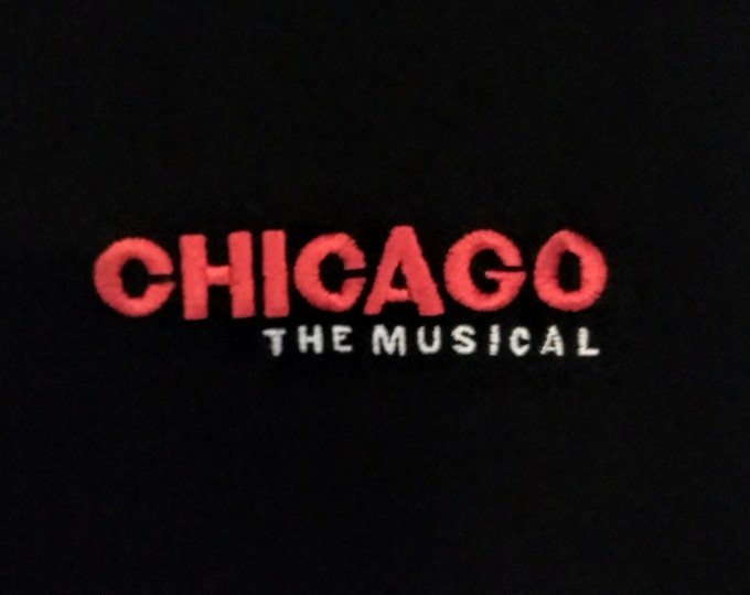 """Chicago, The Musical, Golf Shirt 100% Cotton Pique! Authentic Vintage 1997! """"Chicago: The Musical"""", Broadway Revival Tour Embroidered Shirt"""