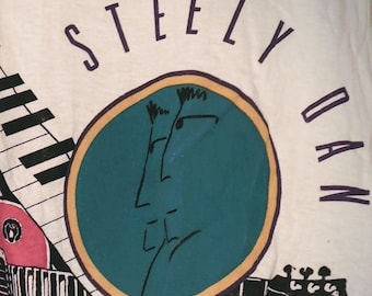 "Steely Dan, Band T Shirt Rare! Authentic Vintage 1993! Walter Becker/Donald Fagen ""Alive In America"" Tour! Rare Original!Like New,Never Worn"