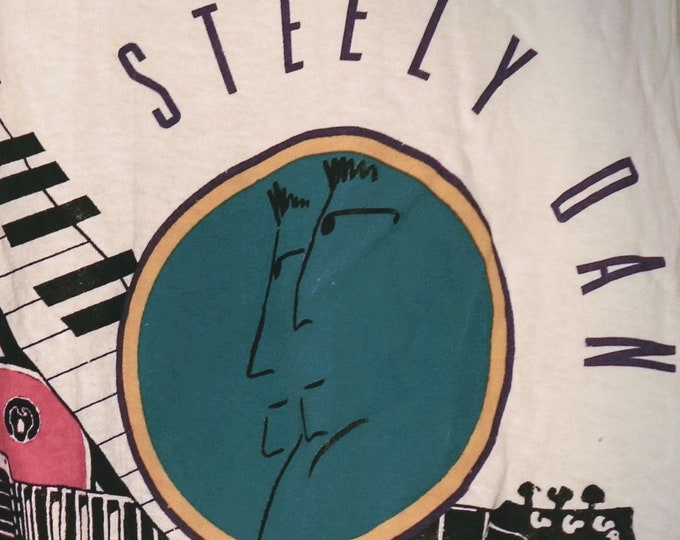 """Steely Dan, Band T Shirt Rare! Authentic Vintage 1993! Walter Becker/Donald Fagen """"Alive In America"""" Tour! Rare Original!Like New,Never Worn"""