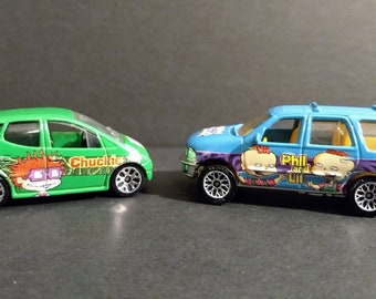 Matchbox Rugrats Edition Chuckie/Phil & Lil! Authentic Vintage 1998! Matchbox Ford Expedition / Mercedes A Class! Rugrats Edition! SCARCE EX