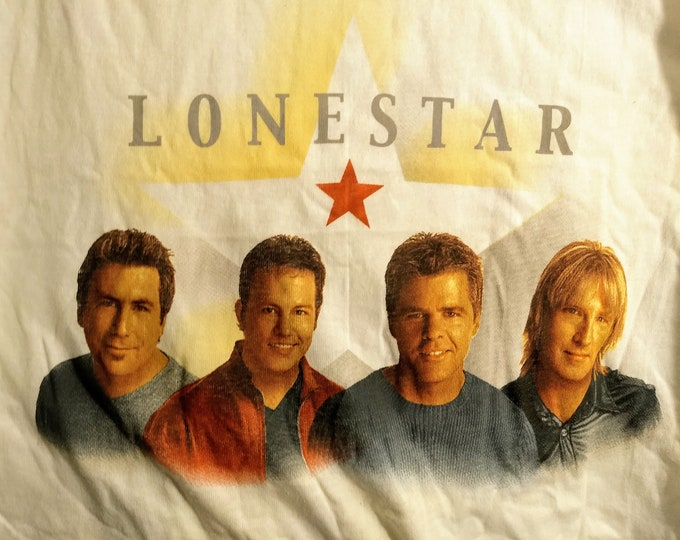 Lonestar Band Concert Tour T Shirt! Authentic Vintage 1998-99! Lonestar Concert T Shirt Like New! Never Worn!