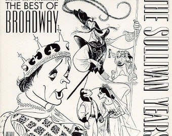 Best Of Broadway The Sullivan Years 2 CD Box Set/32 Page Booklet w/Illustrations By Al Hirschfeld RARE!Out Of Print! Authentic Vintage 92!M-