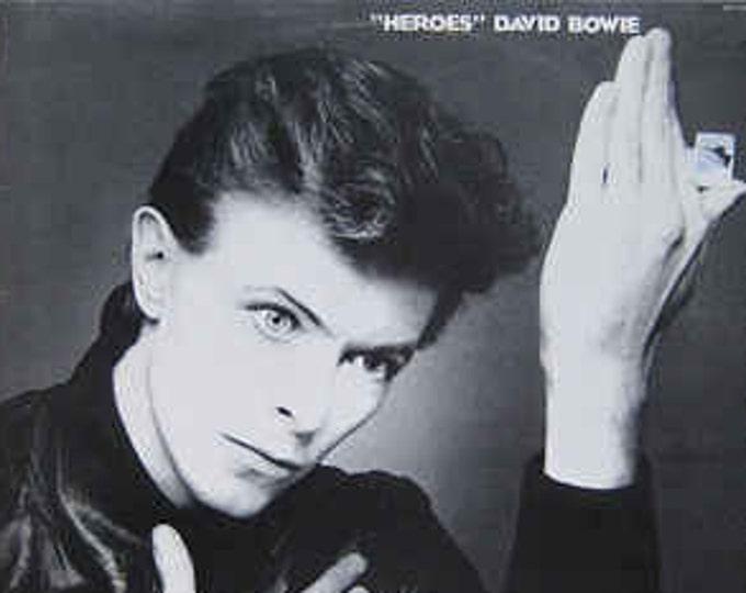 David Bowie Vinyl Record LP! Authentic Vintage 1977! David Bowie~Heroes RCA Victor AFL 1-2522 Near Mint Vinyl/Sleeves Inner Sleeve W/Lyrics