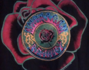 Grateful Dead Concert T Shirt American Beauty Logo On Front/Stealie On Back! 1990 Authentic Vintage! The Dead ~ XXV Anniversary Tour!