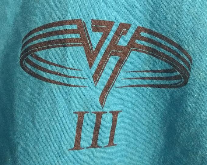 Van Halen III Crew T Shirt! Authentic Vintage 1998! Van Halen w/Gary Cherone Vocals (Extreme)! Hard Rock Cafe Boston,MA Aug 12, 1998! XL