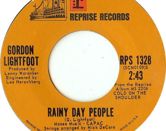 "Gordon Lightfoot, 7"" Vinyl Single 45 RPM, First Press 1A/1B! Authentic Vintage 1975! Gordon Lightfoot "" Rainy Day People""/ Cherokee Bend""!VG"
