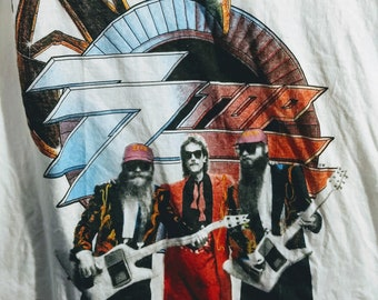 "ZZ Top, Band T Shirt Rare! Authentic Vintage 1990! ZZ Top ""Recycler"" Tour Original Concert T Shirt Scarce In New Condition! Never Worn!"