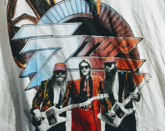 """ZZ Top, Band T Shirt Rare! Authentic Vintage 1990! ZZ Top """"Recycler"""" Tour Original Concert T Shirt Scarce In New Condition! Never Worn!"""