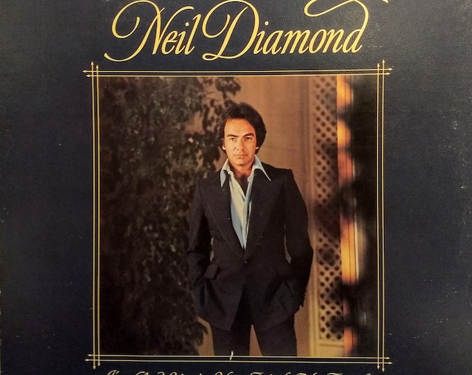 "Neil Diamond PROMO Vinyl Album! Authentic Vintage 1977! Neil Diamond ~ ""I'm Glad You're With Me Tonight"" DJ Promo Embossed Gold On Back!VG+"