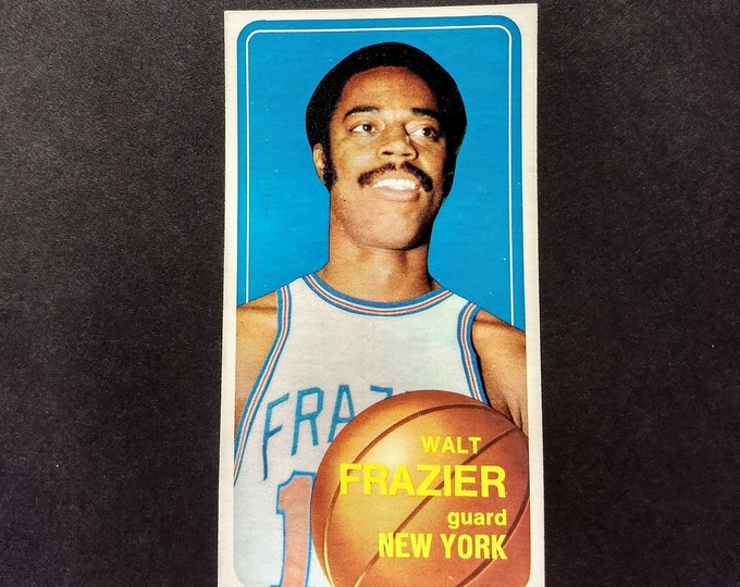 Walt Frazier Topps Trading Card! Authentic Vintage 1970! Walt Frazier New York Knicks Guard! Hall Of Famer! Topps Card #120! Excellent Cond.