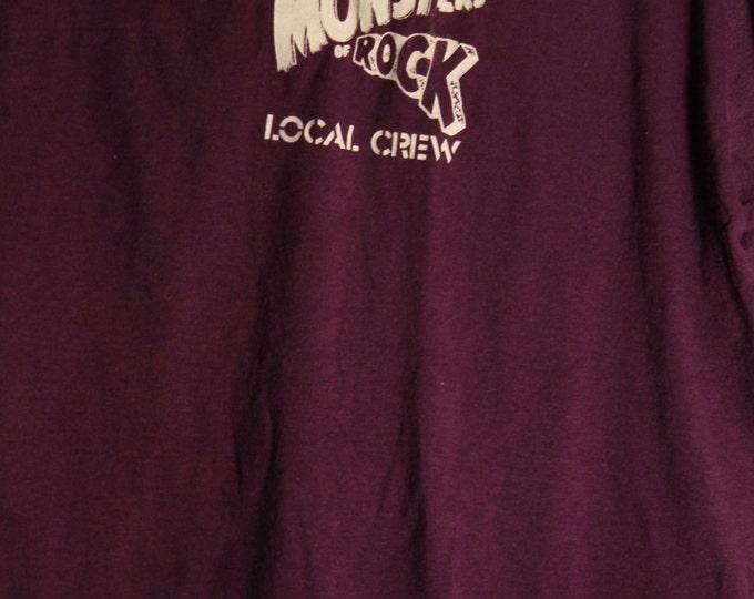 Van Halen (Sammy Hagar) Crew T Shirt! Authentic Vintage 1988! Monsters Of Rock ~ Van Halen [Sammy Hagar]!ORiginal Band T Shirt! Size XL