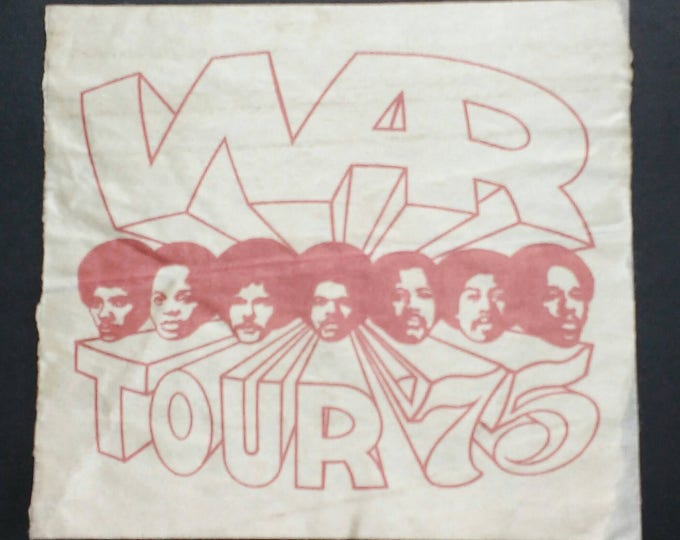 SUPER RARE! WAR Backstage Pass! Authentic Vintage '75! War ~ Tour In Support Of Their Why Can't We Be Friends Album! Low Rider! Eric Burdon!