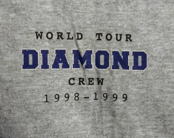 "Neil Diamond Crew T Shirt!Authentic Vintage 1998! Neil Diamond ""As Time Goes By"" World Concert Tour Official Crew Shirt!Like New!Never Worn!"