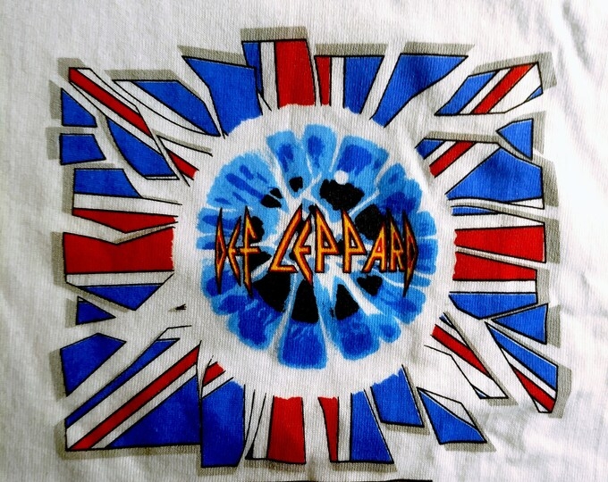 "Def Leppard, Band T Shirt, Tech Crew T, Original! Authentic Vintage 1993 !Def Leppard ""Adreneline Tour"" 7 Day Weekend Crew Shirt!Never Worn!"