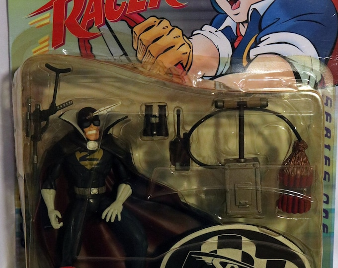 Speed Racer Captain Terror Series One Action Figure! Authentic Vintage 1999! Speed Racer Anime Captain Terror Complete! Intact! Unopened!
