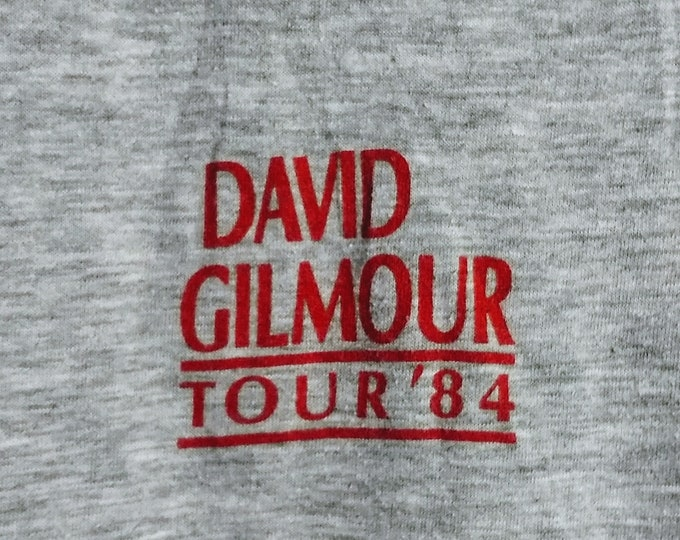 David Gilmour (Pink Floyd)Concert T Shirt!Authentic Vintage 1984! David Gilmour About Face Solo Tour Beacon Theatre NYC  May, 23 1984 Size S