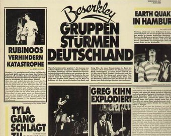 "Greg Kihn, Rubinoos, Tyla Gang, Earthquake, 2X Vinyl LP's, German Import! Authentic Vintage '78! ""Berserk Times"" 70's New Wave US Bands! NM"