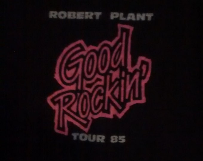 Robert Plant CREW Shirt RARE! 1985 Authentic Vintage Official Crew T Shirt! Robert Plant [Led Zeppelin] Good Rockin' Tour Size XL