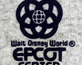 Disney, Epcot Center, Hoodie 3 Snap Front! Authentic Vintage 1985! Epcot Center, Licensed Disney, Embroidered Logo, Hoodie! Excellent!