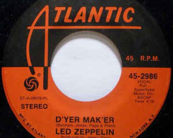 "Led Zeppelin, 7"" Vinyl Single,Rare First Press! Authentic Vintage 1973! Led Zeppelin,Robert Plant,Jimmy Page, John Bonham, John Paul Jones!"