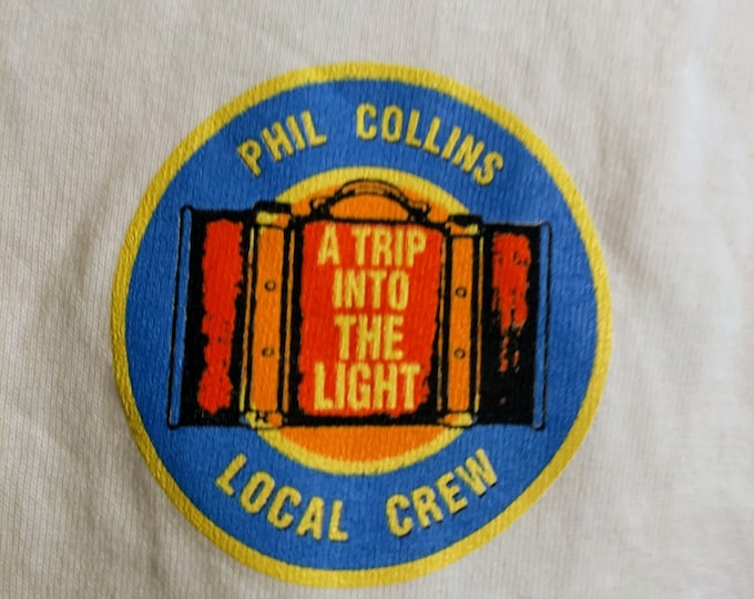 Phil Collins Concert Crew Shirt! Authentic Vintage 1997!Phil Collins ~ A Trip Into The Light World Tour! March 8, 1997 Buffalo, NY! Sold Out
