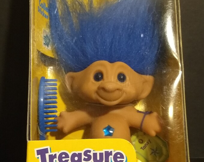 "Troll Doll 1st Edition Treasure Troll ""Tansy"" W/Wishstones! Authentic Vintage 1998! Treasure Troll Galoob Complete Unopened Box!Accessories!"