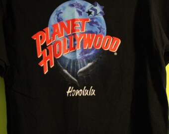 Planet Hollywood 2 Shirts SALE!! Authentic Vintage 1990! Planet Hollywood ~ Honolulu And Orlando! Like New! Never Worn! Sizes Medium And XL!