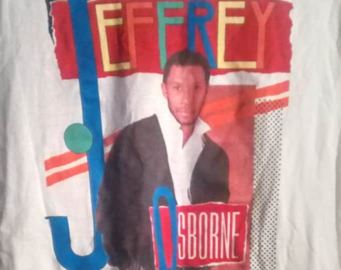 Jeffrey Osborne T Shirt! Authentic Vintage '84 Sleeveless T! Jeffrey Osborne ~ 1984 Don't Stop Tour