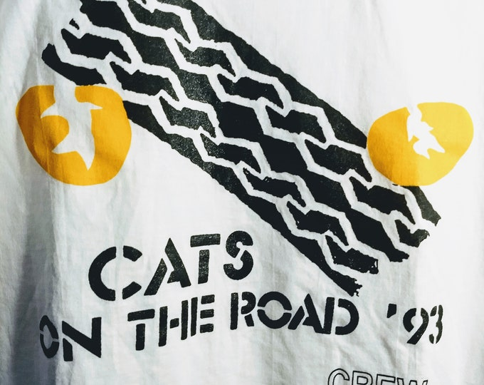 Cats, Broadway Tour, Tech Crew T Shirt!Authentic Vintage '93!Cats~Broadway Musical Andrew Lloyd Webber! Rare Find In New Condition!Size XL
