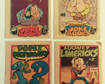 Topps Vintage Funny LI'L Joke Books! Authentic Vintage 1970! Original Topps Joke Books #14 #19 #26 #28! Hard To Find Topps Item!