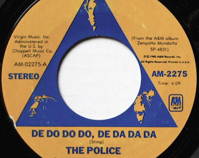 """The Police, 7"""" Vinyl Single, US Release! Authentic Vintage 1980! """"De Do Do Do, De Da Da Da""""! Sting! Andy Summers! Stewart Copeland! New Wave"""