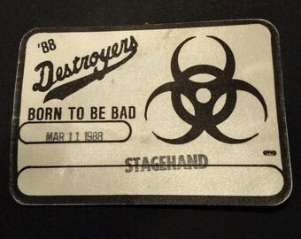 George Thorogood, Satin Backstage Pass! Authentic Vintage 1988! George Thorogood/The Destroyers, Original Show Pass, Not Generic Copy! RARE!