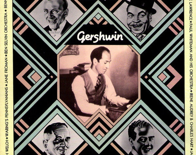 "Gershwin Originial Recordings Vinyl LP UK Import!Authentic Vintage 87!""The Song Is...Gershwin"" George Gershwin, Fats Waller, Fred Astaire+12"