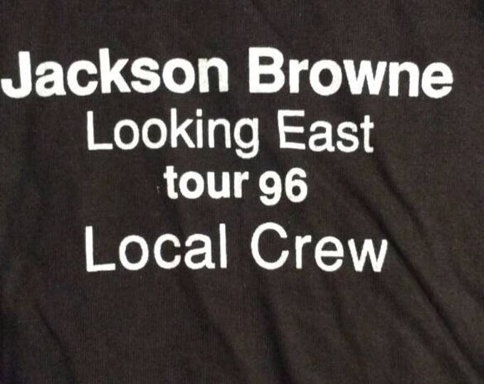 Jackson Browne Crew T Shirt RARE! Authentic Vintage 1996! Jackson Browne ~ Looking East Tour Like New! Never Worn! Size XXL