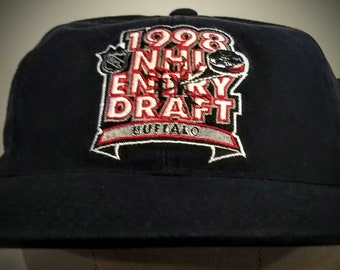NHL, Baseball Hat, Official NHL Entry Draft Hat! Authentic Vintage 1998! NHL Licensed 1998 Entry Draft Buffalo, Embroidered Baseball Cap!