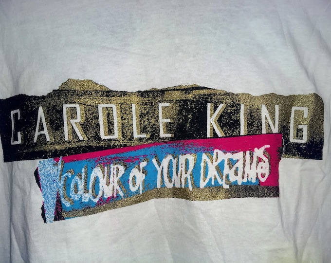 """Carole King T Shirt, Concert Tee, Band T Shirt! Authentic Vintage 1993! Carole King, """"Colour Of Your Dreams"""" Tour, Glittered Ink Logo!"""