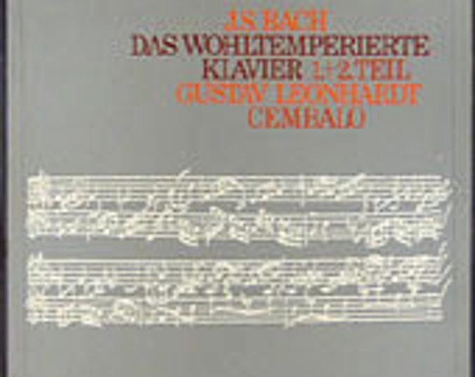 Bach, Vinyl Record 5X Box Set, German Import! Authentic Vintage 73!Gustav Leonhardt Das Wohltemperierte Klavier, 1.+2. Teil! Unplayed Vinyl!