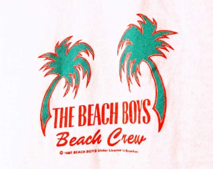 """The Beach Boys,T Shirt, Crew! Authentic Vintage 93! """"Summer In Paradise"""" Tour Shirt! Licensed Brockum T! Front Graphics Only! Never Worn!"""