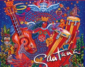 "Santana, CD, US Release! Authentic Vintage 1999! Carlos Santana ""Supernatural"", Guest Stars Eric Clapton, Dave Matthews, Lauryn Hill! EXC!"