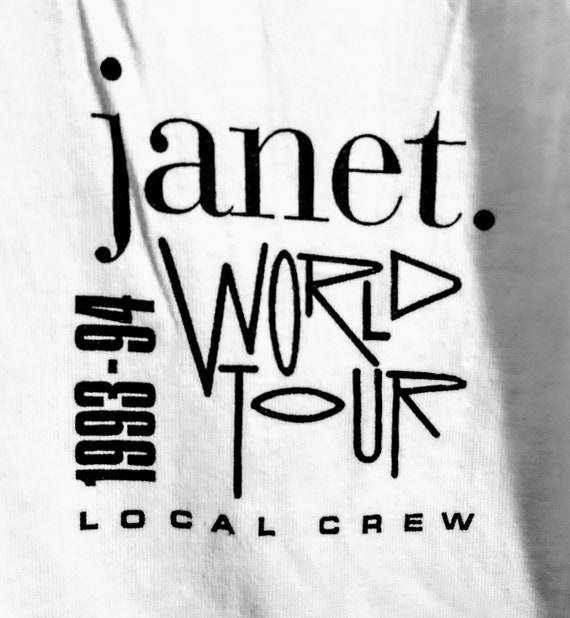 Janet Jackson, T Shirt, Tech Crew T Shirt! Authent
