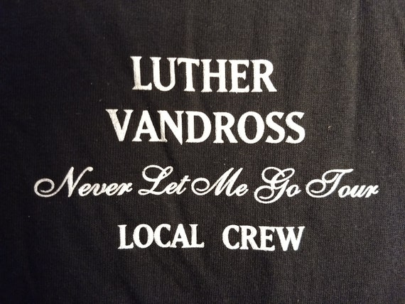 Luther Vandross Band T Shirt Tech Crew RARE! Authe