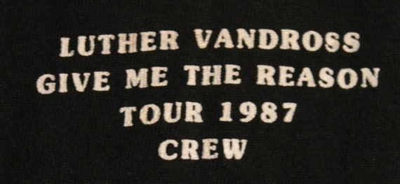 Luther Vandross T Shirt Crew RARE! Authentic Vinta