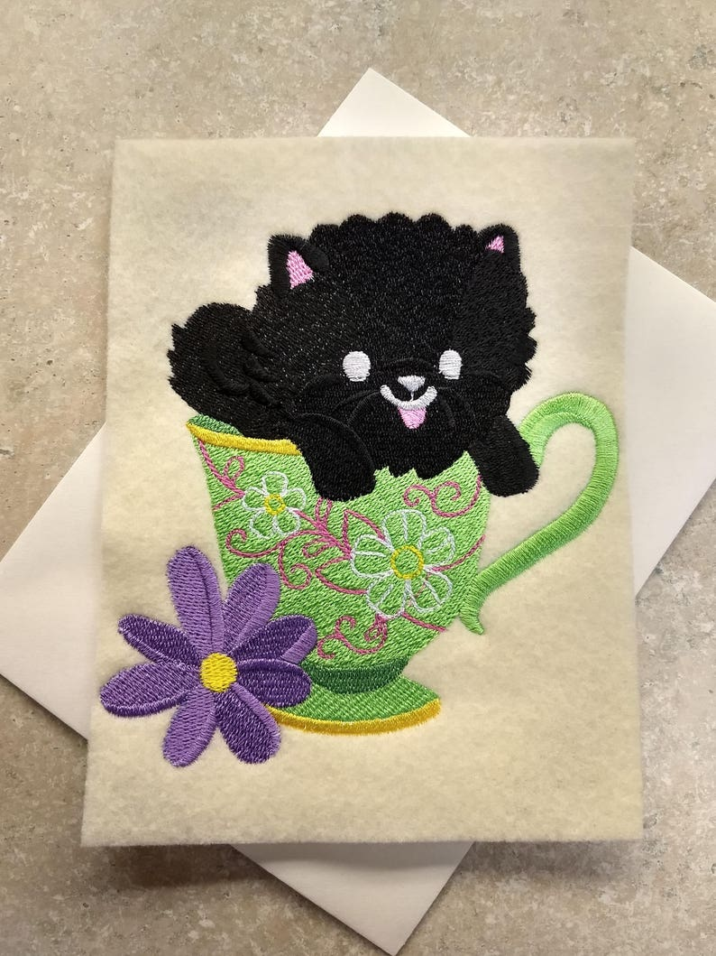 Time for Tea Puppy Any Occasion Cards
