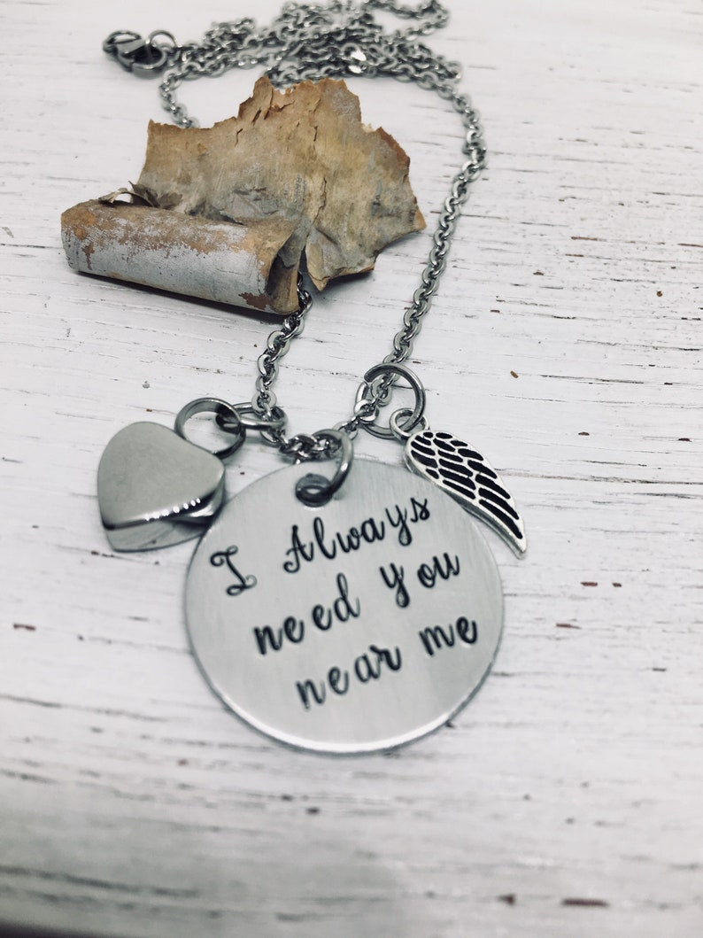 Memorial for Ashes Keepsake Daughter Cremation Urn Jewelry Cremation Jewelry Mom I Always Need You Near Me Urn Heart Necklace